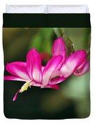 Flying Cactus Flower Duvet Cover