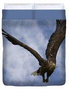 Flying European Sea Eagle I Duvet Cover