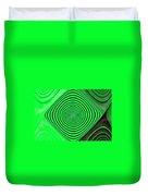Focus On Green Duvet Cover