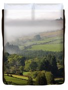 Fog Rolling Into Nire Valley Clonmel Duvet Cover