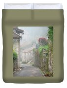 Foggy Lane In St Cirq Duvet Cover