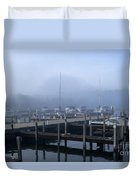 Foggy Morning In Door County Duvet Cover