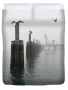 Foggy Pier Duvet Cover