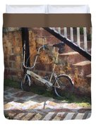 Folding Bicycle Antigua Duvet Cover