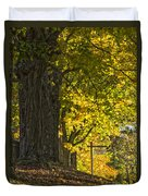 Foliage At The Cemetery Duvet Cover
