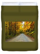 Follow The Yellow Leafed Road Painted Duvet Cover
