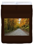 Follow The Yellow Leafed Road Duvet Cover
