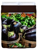 Food - Farm Fresh - Eggplant And Peppers Duvet Cover