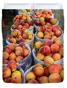 Food - Harvested Peaches Duvet Cover