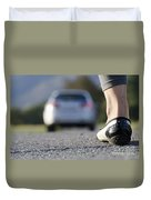 Foot And Car Duvet Cover