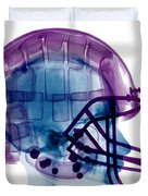 Football Helmet X-ray Duvet Cover