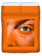 Football Scars Duvet Cover by Semmick Photo