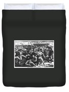 Football: Soldiers, 1865 Duvet Cover