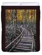 Footpath In Mangrove Forest Duvet Cover