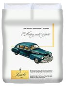 Ford Lincoln Ad, 1946 Duvet Cover