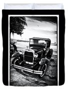 Ford Model T Film Noir Duvet Cover by Bill Cannon