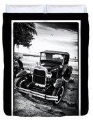 Ford Model T Film Noir Duvet Cover