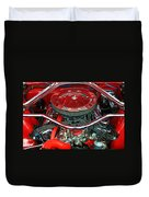 Ford Mustang Engine Bay Duvet Cover