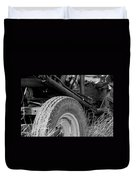 Ford Tractor Details In Black And White Duvet Cover