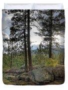 Forest Boulder Formation Near Red Lake Washington Duvet Cover