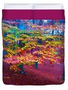 Forest Color Leaves Duvet Cover