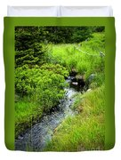 Forest Creek In Newfoundland Duvet Cover