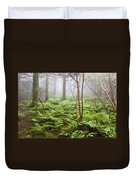 Forest Ferns On A Foggy Morning Duvet Cover