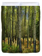 Forest Floor In Autumn, Bow Valley Duvet Cover