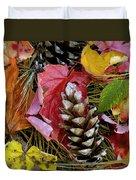 Forest Floor Portrait Duvet Cover