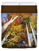 Forest In Autumn Bavaria Germany Duvet Cover