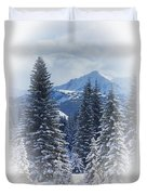 Forest In The Winter Duvet Cover
