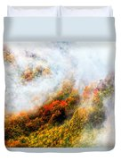 Forest In Veil Of Mists Duvet Cover
