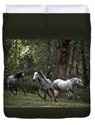 Forest Mares Duvet Cover