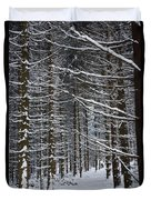 Forest Of Marburg In Winter Duvet Cover