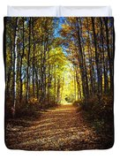 Forest Path In Autumn Duvet Cover