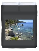 Forested Shores Of Lake Tahoe Duvet Cover
