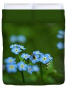 Forget-me-nots In Treman State Park, Ny Duvet Cover