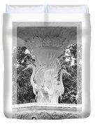 Forsyth Fountain - Black And White 4 Duvet Cover