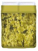 Forsythia In Full Bloom Duvet Cover