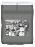 Fort Macon Food Supplies Bw 9070 3759 Duvet Cover by Michael Peychich