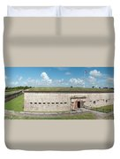Fort Macon Panorama 1 Duvet Cover