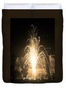 Fountain Firework Duvet Cover