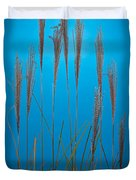 Fountain Grass In Blue Duvet Cover