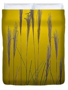 Fountain Grass In Yellow Duvet Cover