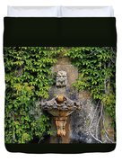 Fountain In The Walled Garden, Florence Duvet Cover