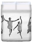 Four Dancers Leaping Duvet Cover