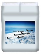 Four F-14 Tomcats And Three F-5 Tiger Duvet Cover