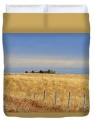Four Outbuildings In The Field Duvet Cover