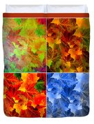 Four Seasons In Abstract Duvet Cover