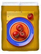 Four Tomatoes  Duvet Cover